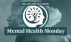 A graphic showing a picture of a person and the words 'Mental Health Monday'