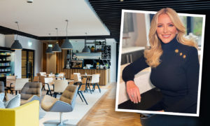 Michelle Mone at her new office space in Aberdeen