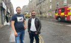Talwinder Singh and Irfan Bashir from Aberdeen helped people escape the blaze in Albert Street.