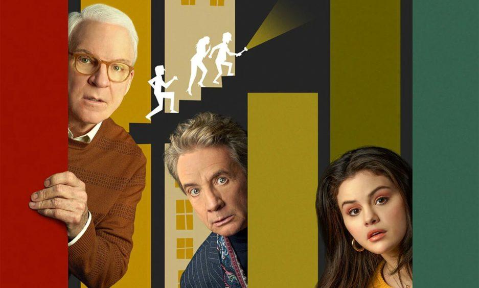 Only Murders In The Building (Disney+) stars Steve Martin, Martin Short and Selena Gomez