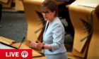 Nicola Sturgeon is updating parliament on Covid situation today