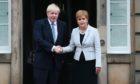 Prime Minister Boris Johnson and First Minister Nicola Sturgeon