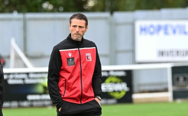 : CR0030651  The new manager of Inverurie Locos Richard Hastings   Picture by Paul Glendell     11/09/2021