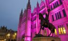 Marischal College has been illuminated pink this evening to remember six-year-old Kacey Seivwright who died at an Aberdeen after-school club.
