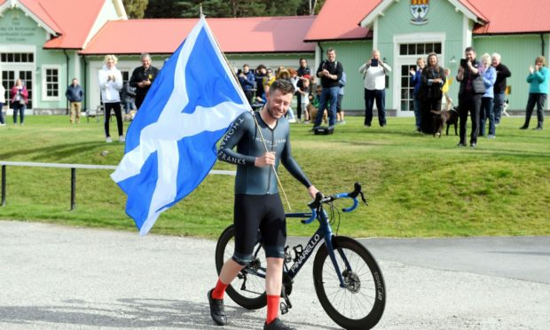 Josh Quigley broke the world record for gretest distance cycled in a week at 4am on Monday.