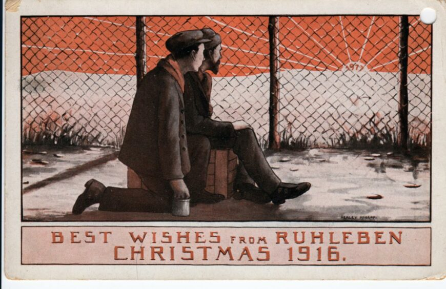 The Rubislaw crew ended up in a PoW camp in 1914.