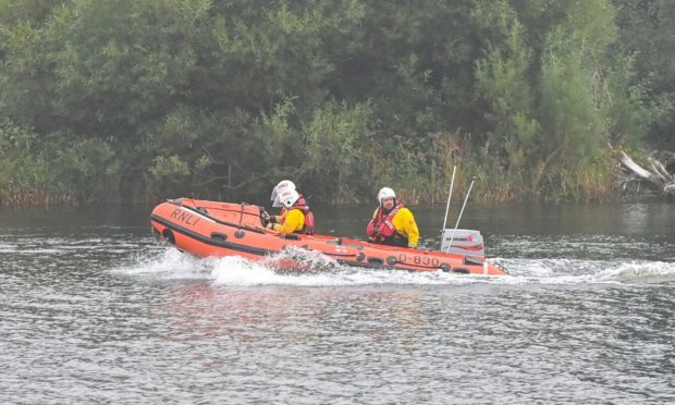 Lifeboat crews involved in search along the River Dee. Picture by Scott Baxter