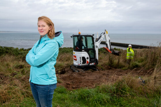 Greyhope Bay founder Fiona McIntyre is delighted that work has finally started on the visitor centre at Torry Battery