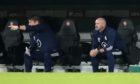 Scotland manager Steve Clarke (right) and assistant John Carver.