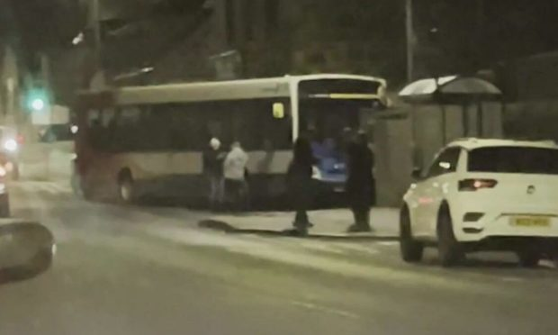 Police traced the bus to College Bounds in Fraserburgh. Photo: SWD Media