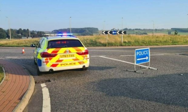 There has been a crash on the AWPR. Supplied by Police Scotland.