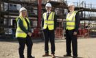 Springfield Properties chief executive, Innes Smith, centre, with chairman Sandy Adam and chief finance officer, Michelle Motion.