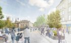 Plans for a pedestrianised Union Street.