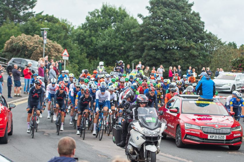 Stonehaven came alive this morning as cyclists headed through the streets of the town.