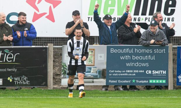 Scott Barbour netted a hat-trick for Fraserburgh.