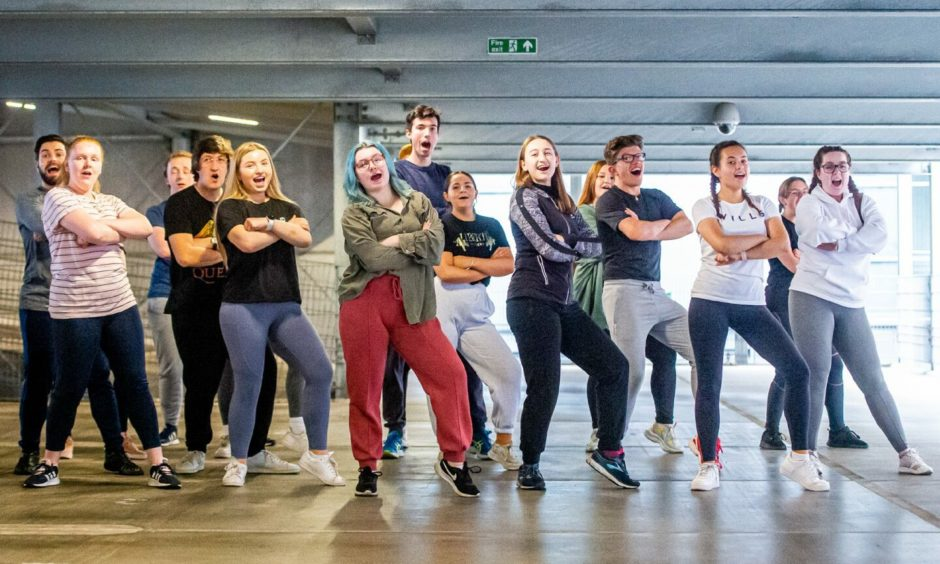 Hot stuff... weeks of rehearsals for the cast of Freezin in a frozen car park paid off with a barnstorming show at His Majesty's.