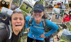 Gemma Milne and Nicola Crozier kept a diary while the walked the West Highland Way for charity Aberdeen Independent Multiple Sclerosis (Aims).