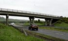 Temporary traffic lights will be installed on the Slug Road bridge over the A90 Aberdeen road. Photo: DCT Media