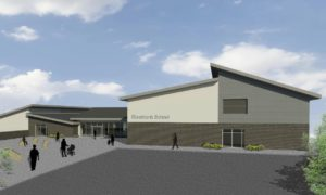 An artist's impression of the proposed replacement Riverbank School in Tillydrone.