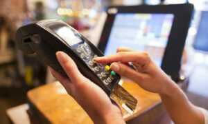 Tips on card machines should go to the staff.