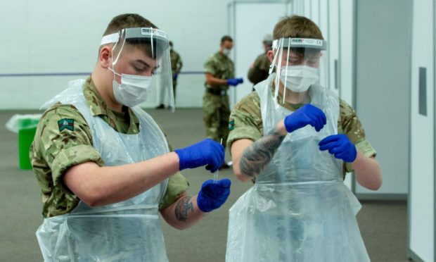 Army soldiers have already been used to carry out Covid tests during the pandemic. Photo: Shutterstock