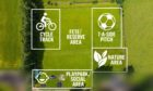 Layout of possible transformation of the Archiestown playing fields.