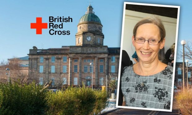 Dr Gray's head clinical and care governance  Liz Tait was deployed by British Red Cross to Dubai as part of their psychosocial support team to support Afghan families.