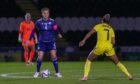 Scotland captain Rachel Corsie comes up against Janogy of Sweden. Photo by Colin Poultney/ProSports/Shutterstock