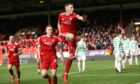 Aberdeen's Lewis Ferguson celebrates after scoring to make it 1-1 against Celtic at Pittodrie.