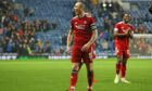 Aberdeen captain Scott Brown at full time in the 2-2 draw against Rangers.