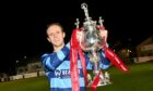 Banks o' Dee's Michael Philipson with the Evening Express Aberdeenshire Cup