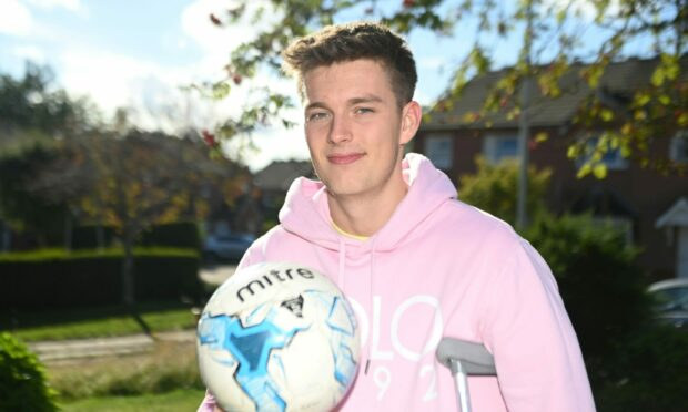 Huntly striker Angus Grant ruptured his anterior cruciate ligament and lateral collateral ligament in August