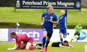 Peterhead defender Jason Brown.