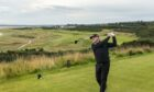 Paul Lawrie teeing off on the 7th hole (Championship) at Royal Dornoch. Photo credit: Royal Dornoch GC.