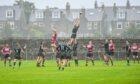 Aberdeen Grammar were beaten by title-chasing Hawick at Rubislaw.  Picture by Scott Baxter