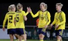 Sweden celebrate their 1-0 win against the Republic of Ireland on Thursday