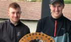Ethan Main, left, and Fraser Laird both hold the Spence Trophy at Deeside.