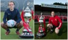 Banks o' Dee's Michael Philipson, left, and Formartine United's Stuart Smith are both hoping to get their hands on the Evening Express Aberdeenshire Cup