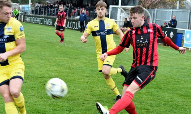 Greg Mitchell, right, hopes Inverurie can enjoy success in the Aberdeenshire Shield.