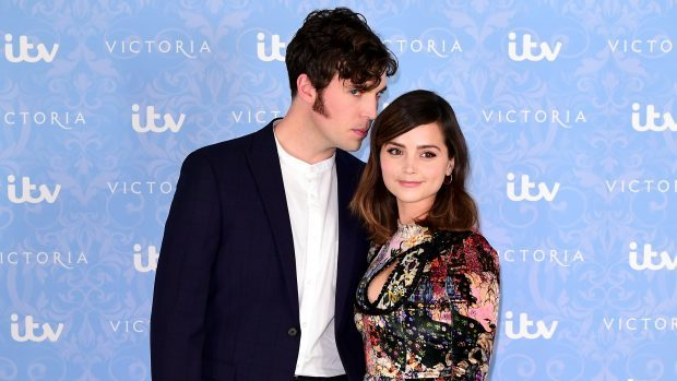 Victoria stars Jenna Coleman and Tom Hughes spark engagement rumours
