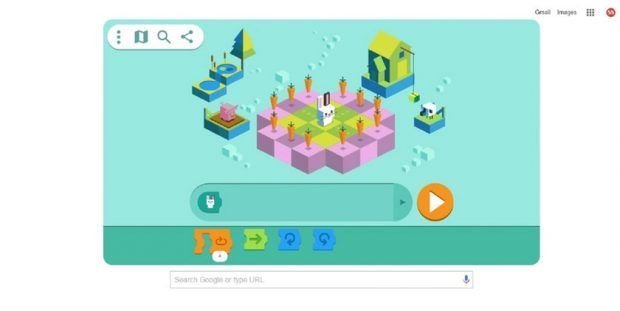 Today's Google Doodle is Meant to Help Kids Learn to Code