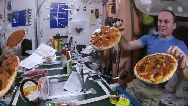 Astronauts make and eat pizza from scratch on International Space Station