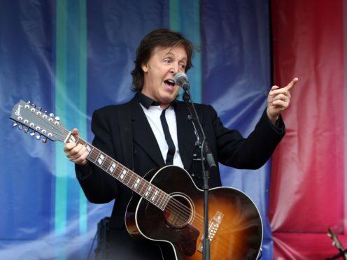 Sir Paul McCartney reduced James Corden to tears during an emotional Carpool Karaoke (Steve Parsons/PA)