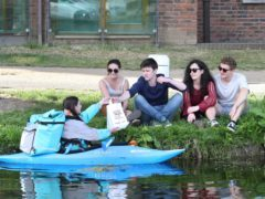 Deliveroo has started making deliveries by canoe (Sasko Lazarov/Photocall Ireland)