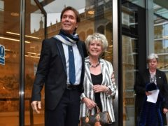 Gloria Hunniford was at the High Court for the judgment (Dominic Lipinski/PA)