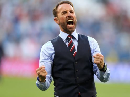 Andrew Marr and Sunday Brunch hosts wear waistcoats in tribute to Southgate (Owen Humphreys, PA)