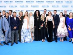 The cast and crew Mamma Mia! Here We Go Again (Ian West/PA)