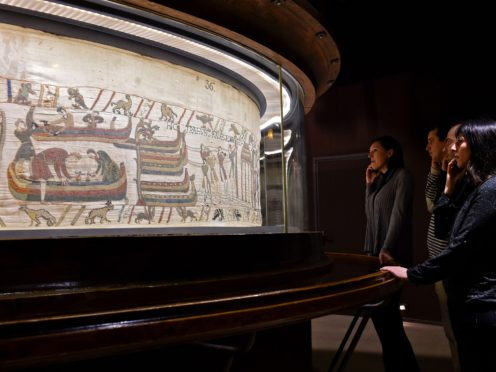 A section of The Bayeux Tapestry (Bayeux Museum/PA)