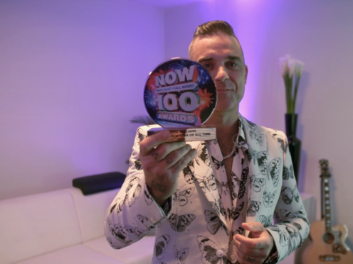 Robbie Williams features on Now 100 and was named the greatest Now star of all time (Now/PA)