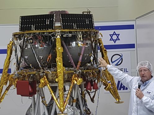 Opher Doron, general manager of Israel Aerospace Industries' space division (Ilan Ben Zion/AP)